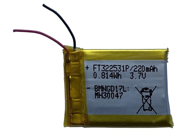 FT322531P Li-po 3,7V 220mAh