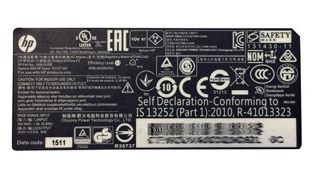 Zasilacz HP 45W 19,5V