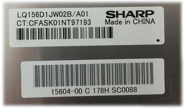SHARP LQ156D1JW02B/A01
