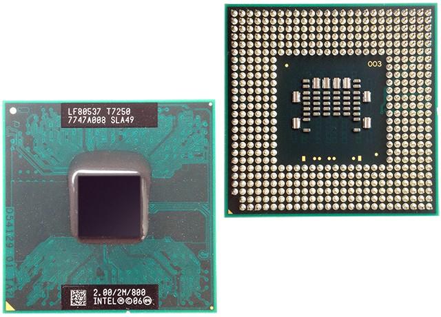 Intel Core 2 Duo T7250 przód tył