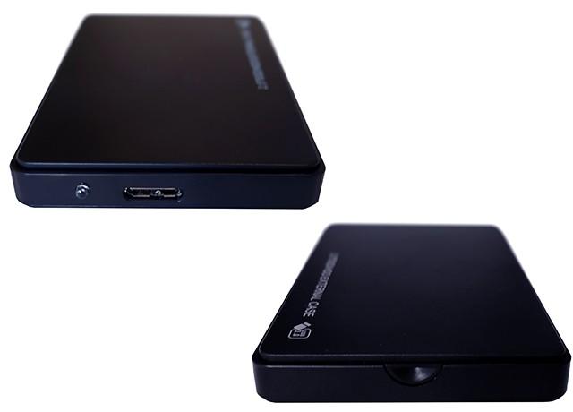 Dysk przenośny Black Box 500GB przód tył