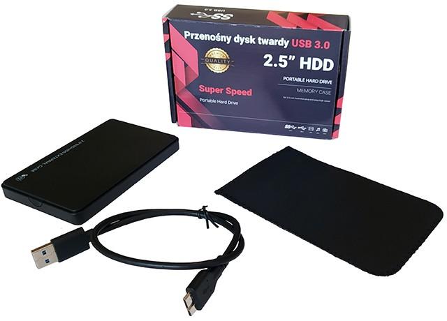 Dysk przenośny Black Box 500GB zestaw