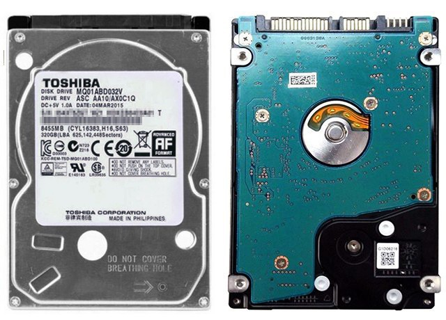 Toshiba MQ01ABD032V przód tył