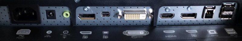 Dell Ultrasharp U2413 wejścia wyjścia