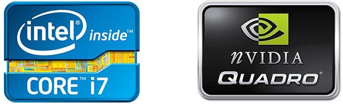 Intel Core i7 NVIDIA Quadro