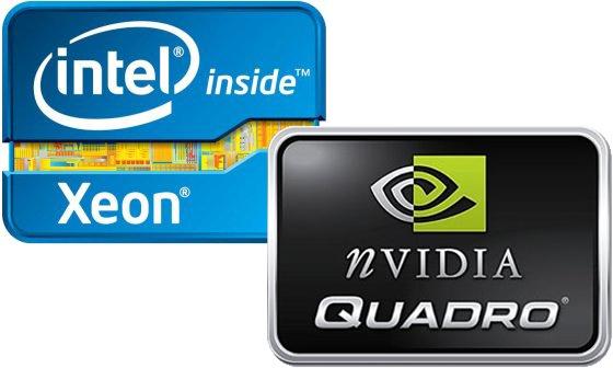 Intel Xeon procesor + Nvidia Quadro