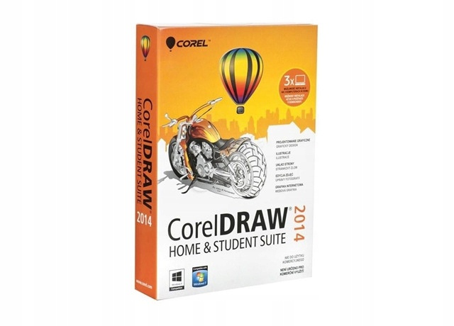 CorelDRAW Home & Student SUITE 2014 PL BOX