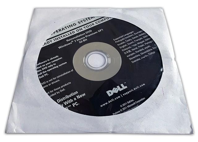 MS Windows 7 Home Premium 32-bit DVD Dell